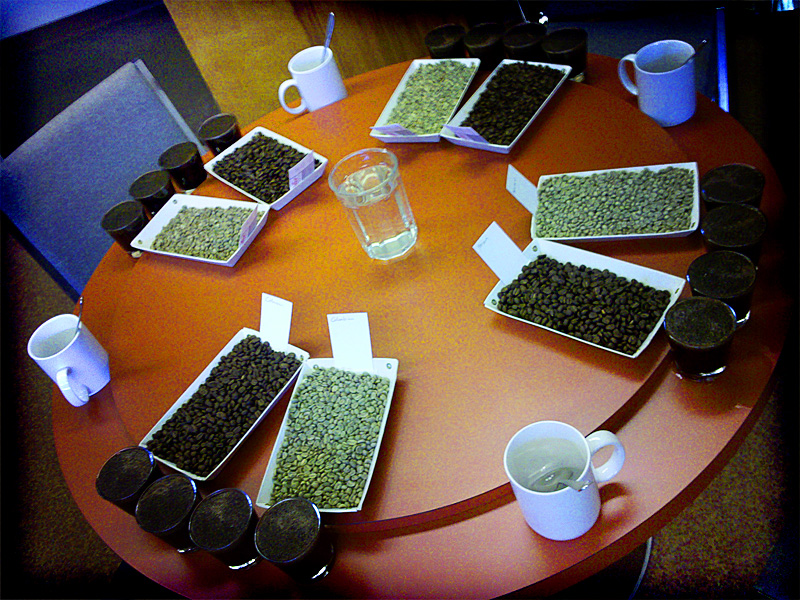 Coffee Cupping at Kobos Coffee in NW Portland restaurant