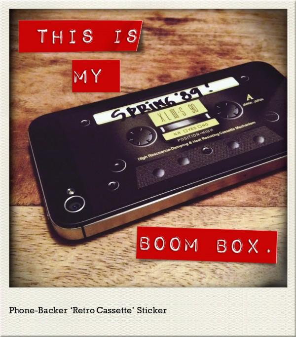Retro Cassette iPhone Sticker
